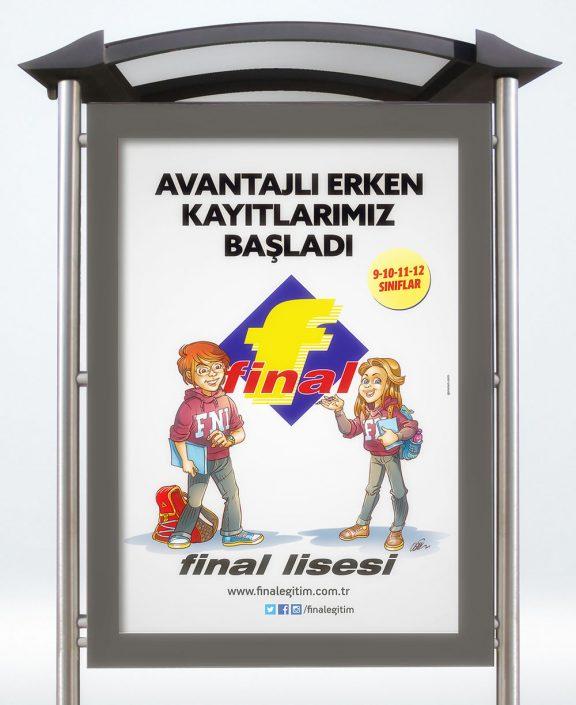 Otobüs Durağı Afişi - Final Eğitim Kurumları - Açıkhava Reklamları