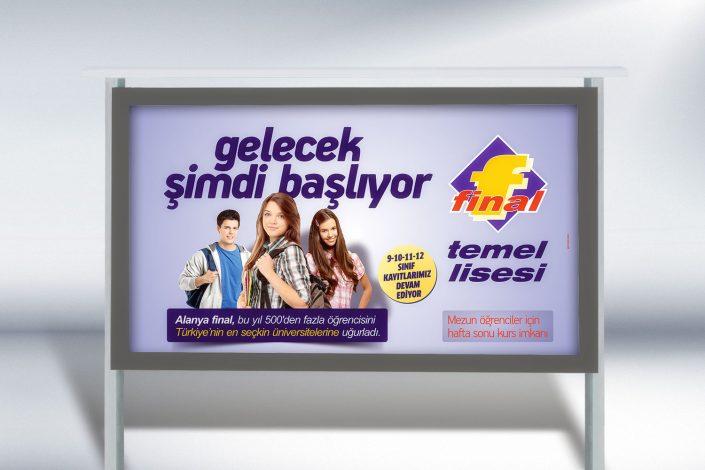 Lise Billboard Tasarımı - Final Özel Temel Lisesi - Açıkhava Reklamları