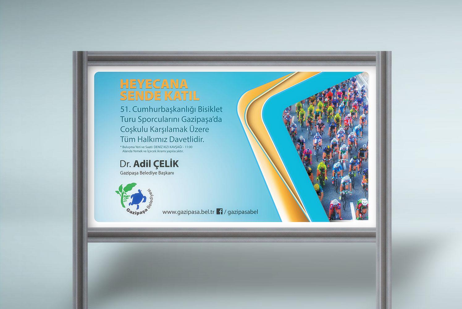 Coşkulu Karşılama Davet Mesajı Afişi - Gazipaşa Belediyesi Dr. Adil Çelik