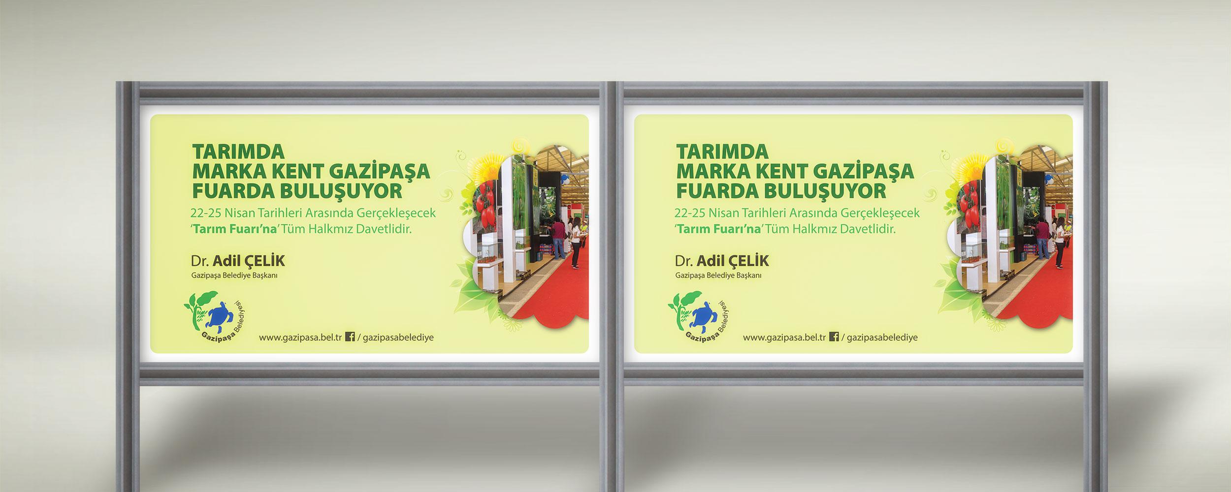 Tarım Fuarına Davet Mesajı Afişi - Gazipaşa Belediyesi Dr. Adil Çelik
