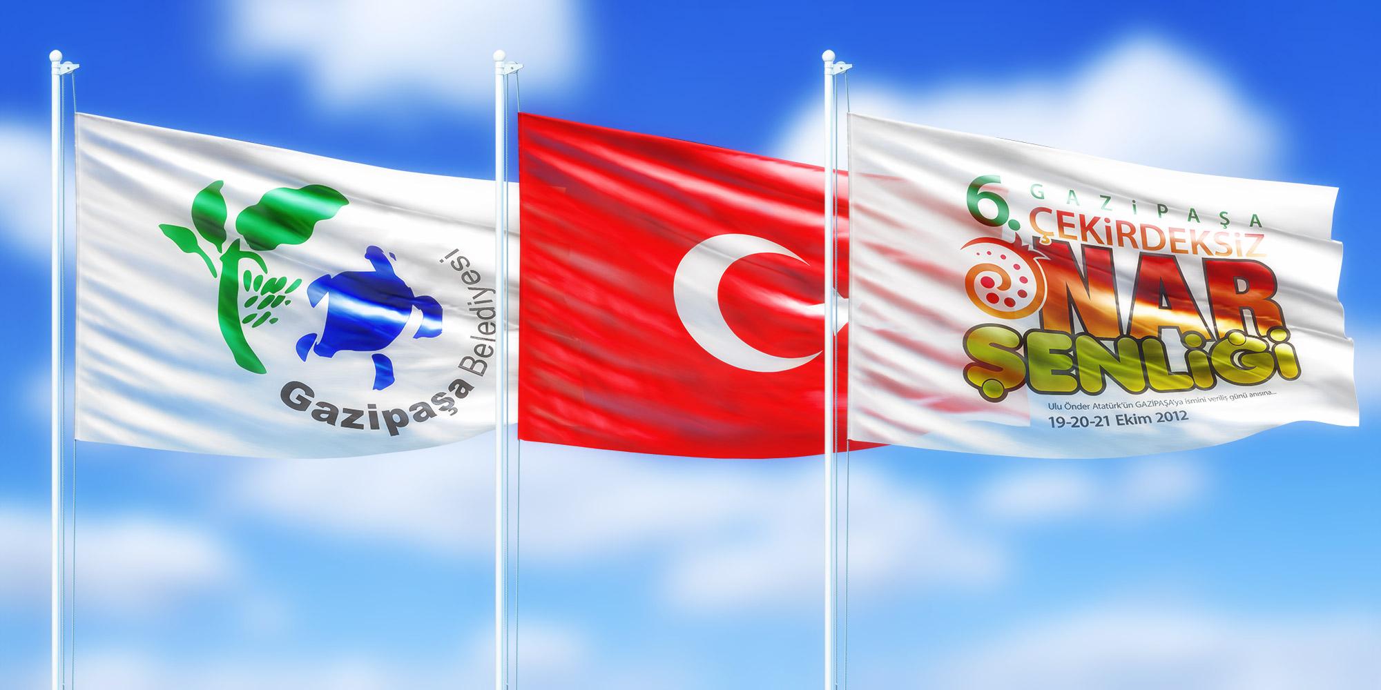 Göndere Bayrak ve Kurum Bayrağı Tasarım ve Tekstil Baskı