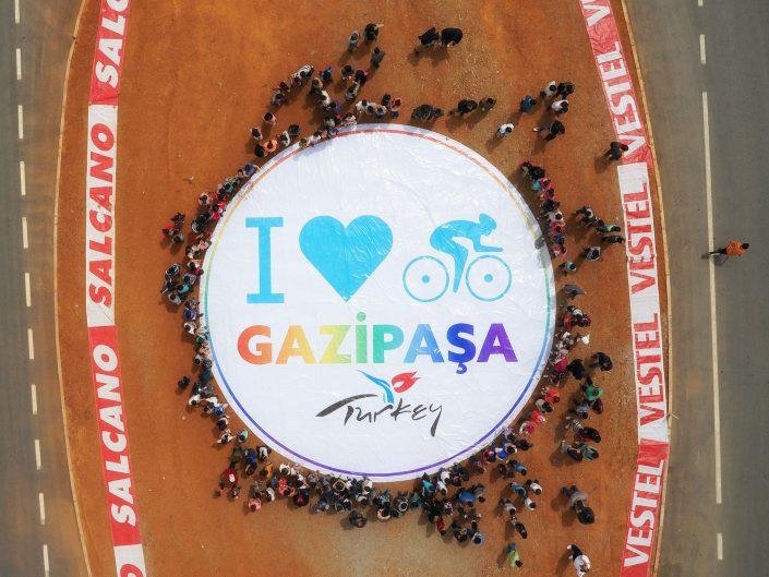 Gazipaşa Karşılama Seremonisi - Cumhurbaşkanlığı Türkiye Bisiklet Turu - Açıkhava Reklamları