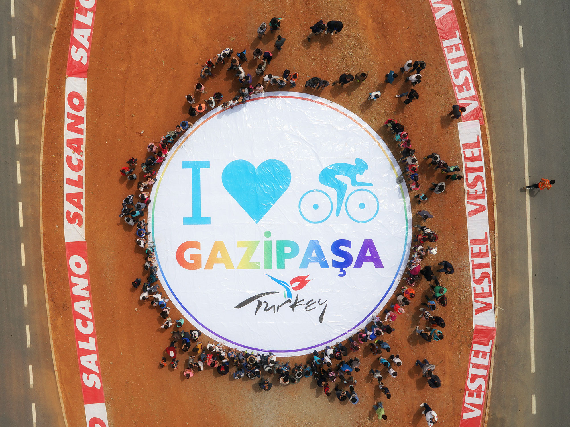 Gazipaşa Karşılama Seremonisi - Cumhurbaşkanlığı Türkiye Bisiklet Turu