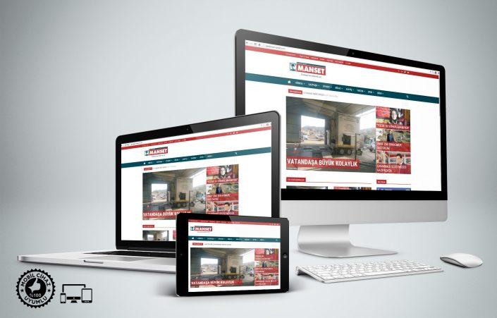 Haber Sitesi Tasarımı - Gazipaşa Manşet Gaztesi