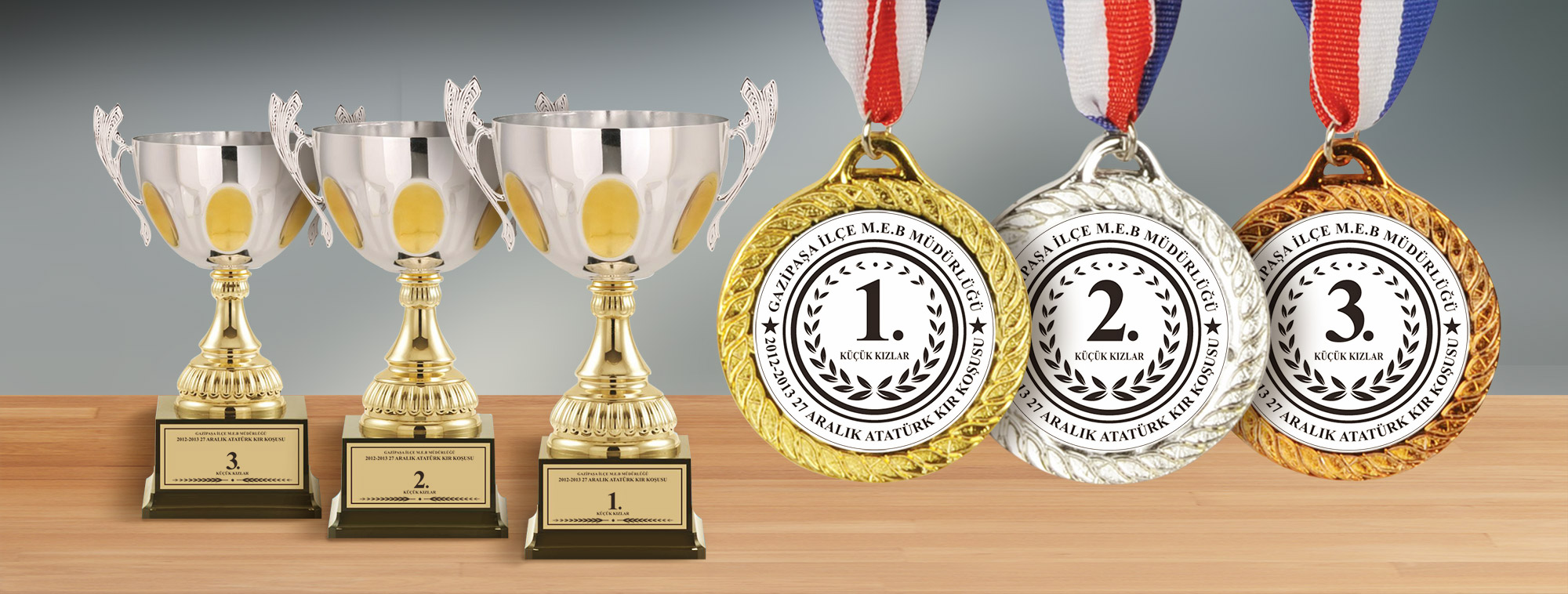 Kupa ve Madalya Tasarımı - Gazipaşa Milli Eğitim Müdürlüğü
