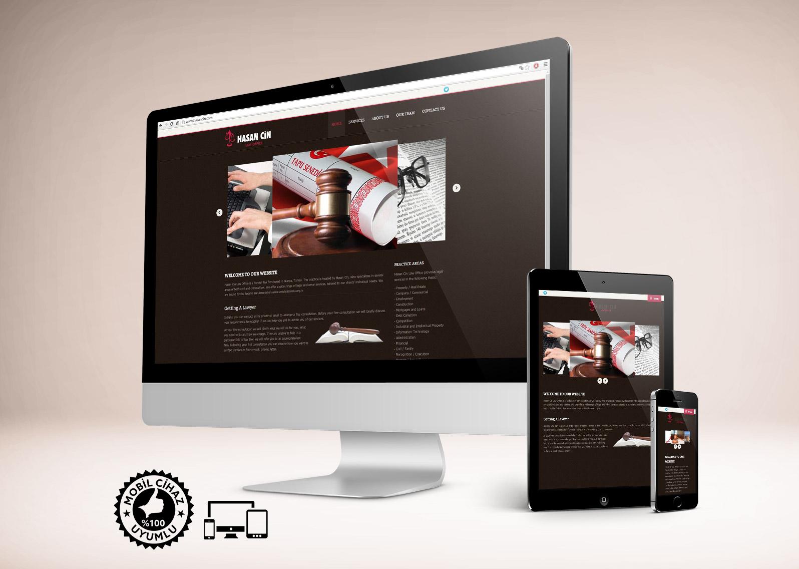 Hukuk Bürosu Web Tasarımı - Avukat Hasan Cin
