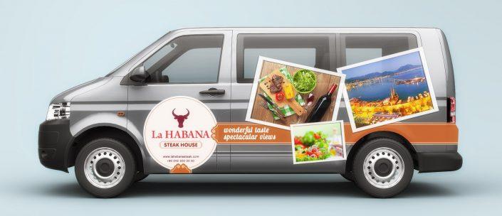 Müşteri Servisi Araç Giydirme - La HABANA Steak Wine