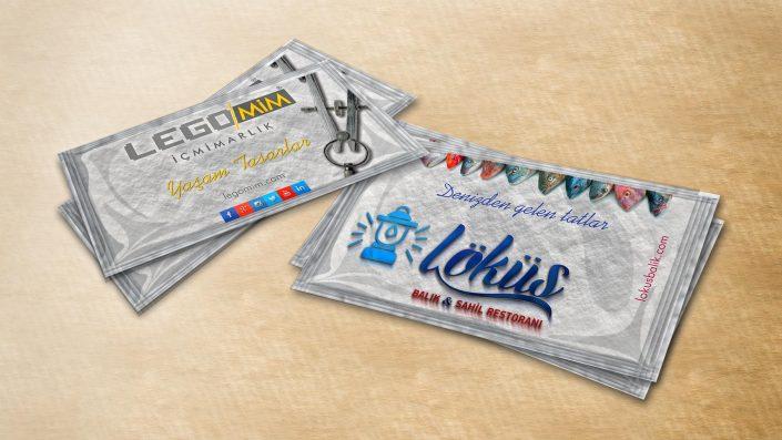 Islak Mendil Tasarımı - Löküs Balık & Sahil Restoranı