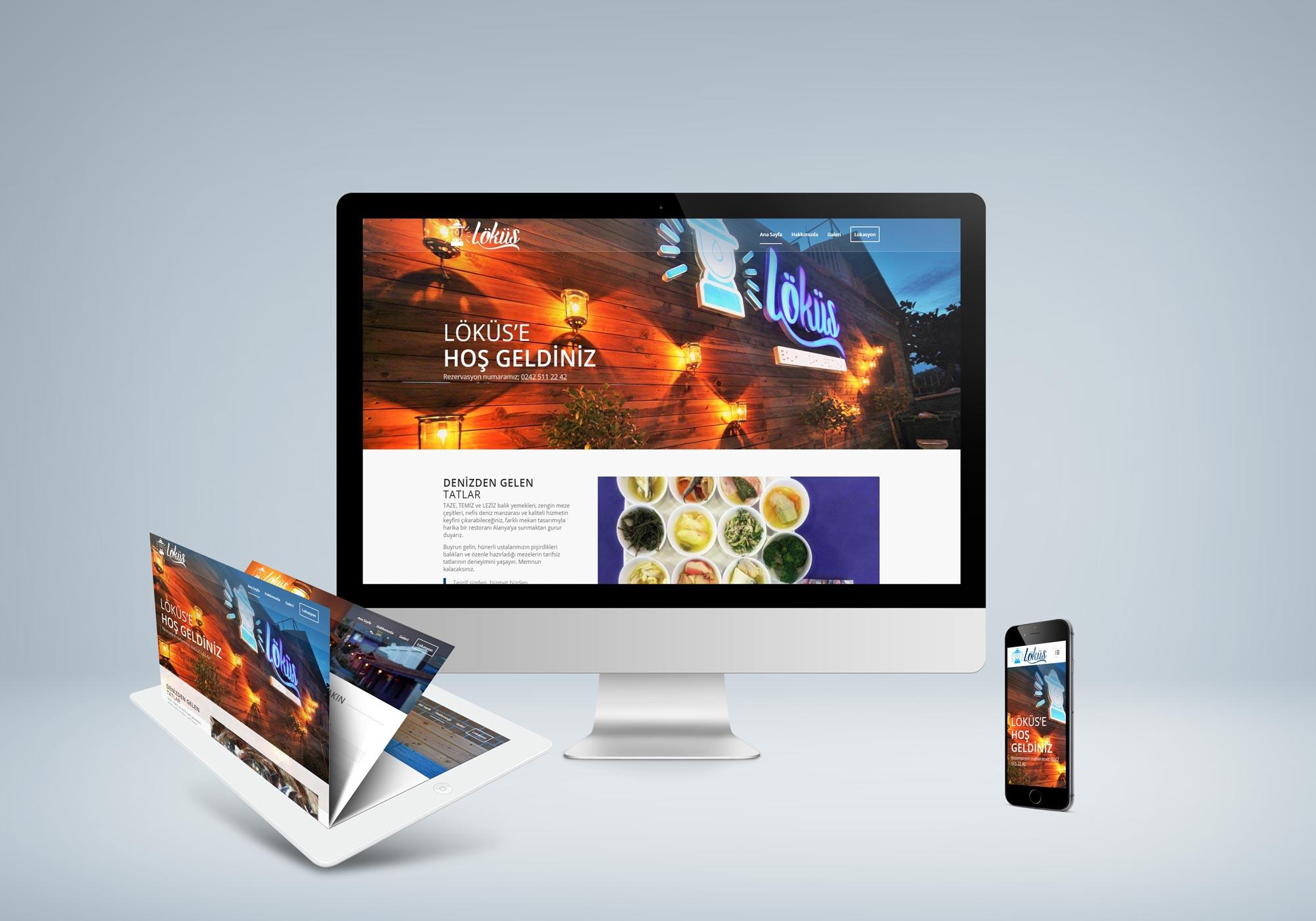 Balık Restaurant Web Sitesi - Löküs