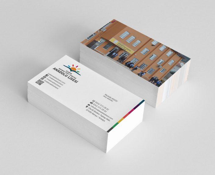 Okul Kartviziti Tasarımı - Mehmet Arif Türktaş Anadolu Lisesi