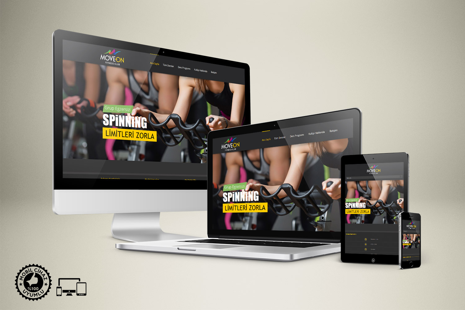 Fitness Salonu Web Sitesi Tasarımı - Move ON Fitness Club