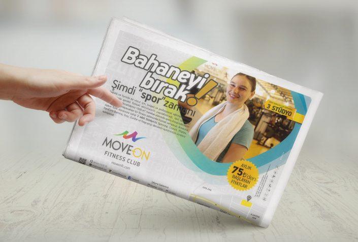 Yarım Sayfa Gazete İlan - Move On Fitness Club