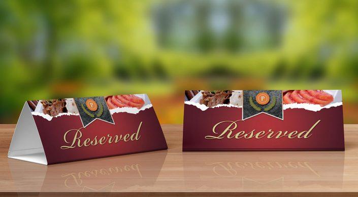 Masaüstü Rezerve Kartı - Riviera Hotels & Spa
