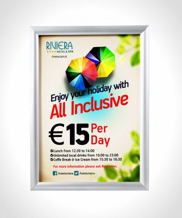 All inclusive flyer & poster - Riviera Hotels & Spa