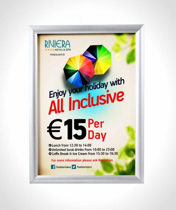 All inclusive flyer & poster - Broşür Dağıtım Standı - Display Tanıtım Sistemleri