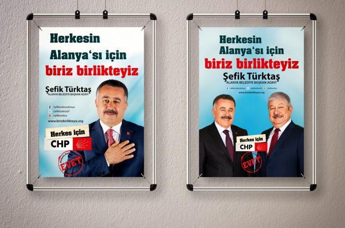 Yerel Seçim Kampanyası - CHP | Cumhuriyet Halk Partisi Alanya Belediye Başkan Adayı Şefik Türktaş