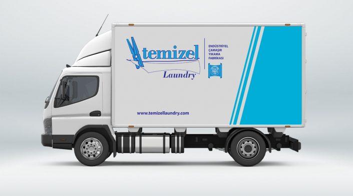Araç Giydirme - Araç Filosu Giydirme - Temizel Laundry