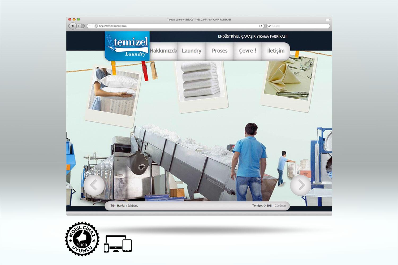 Endüstriyel Çamaşır Fabrikası Web Sitesi Tasarımı