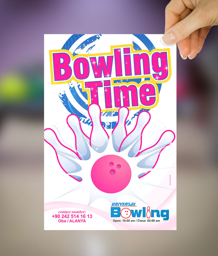 Bowling Flyer - El İlanı - Universal Bowling