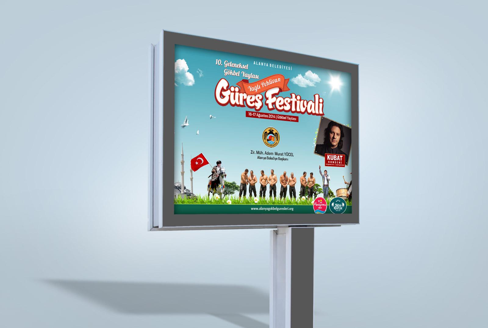 Festival Reklam Kampanyası - Gökbel Yaylası Yağlı Pehlivan Güreşleri