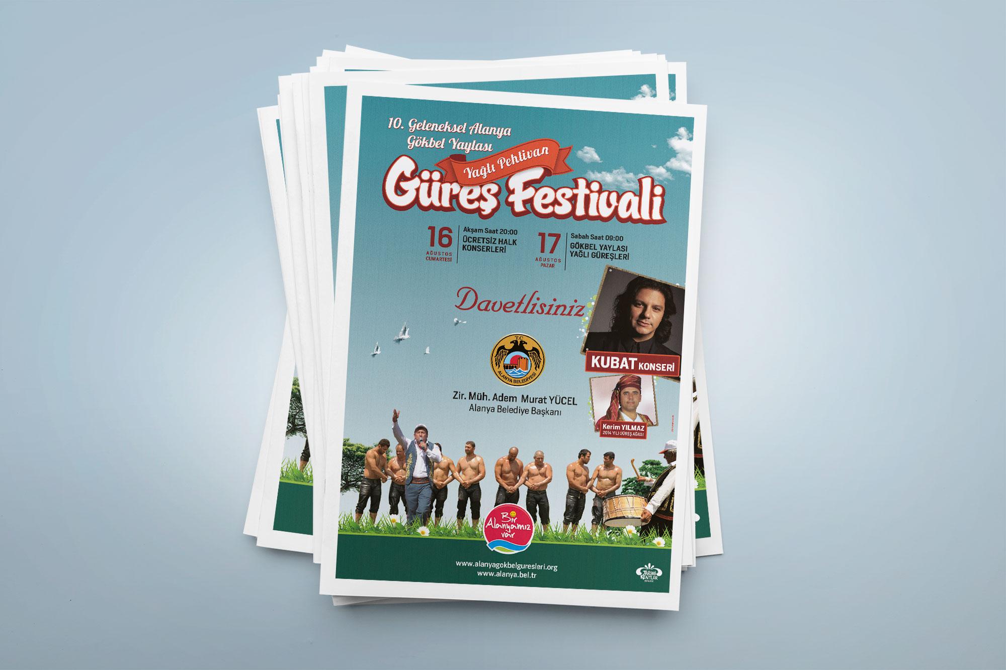 Tabloid Gazete İlanı - Gökbel Yaylası Yağlı Pehlivan Güreş Festivali