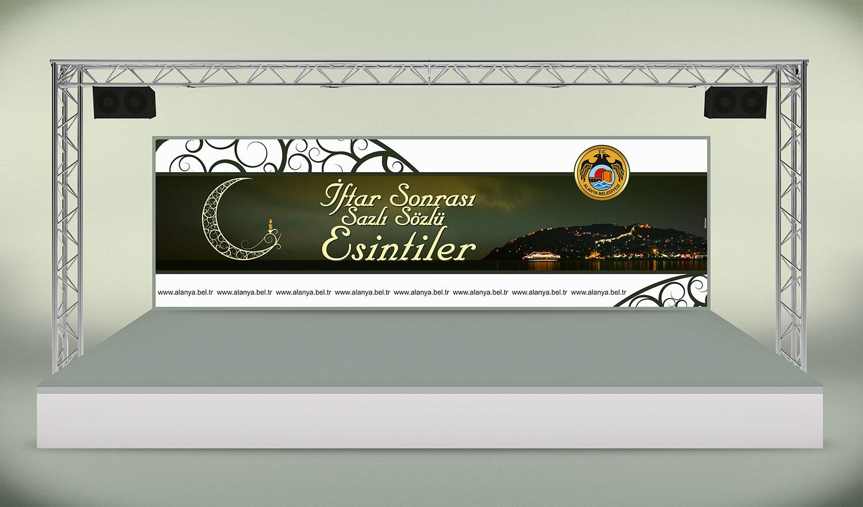 Sahne Platformu Fonu Tasarımı - Alanya Belediyesi