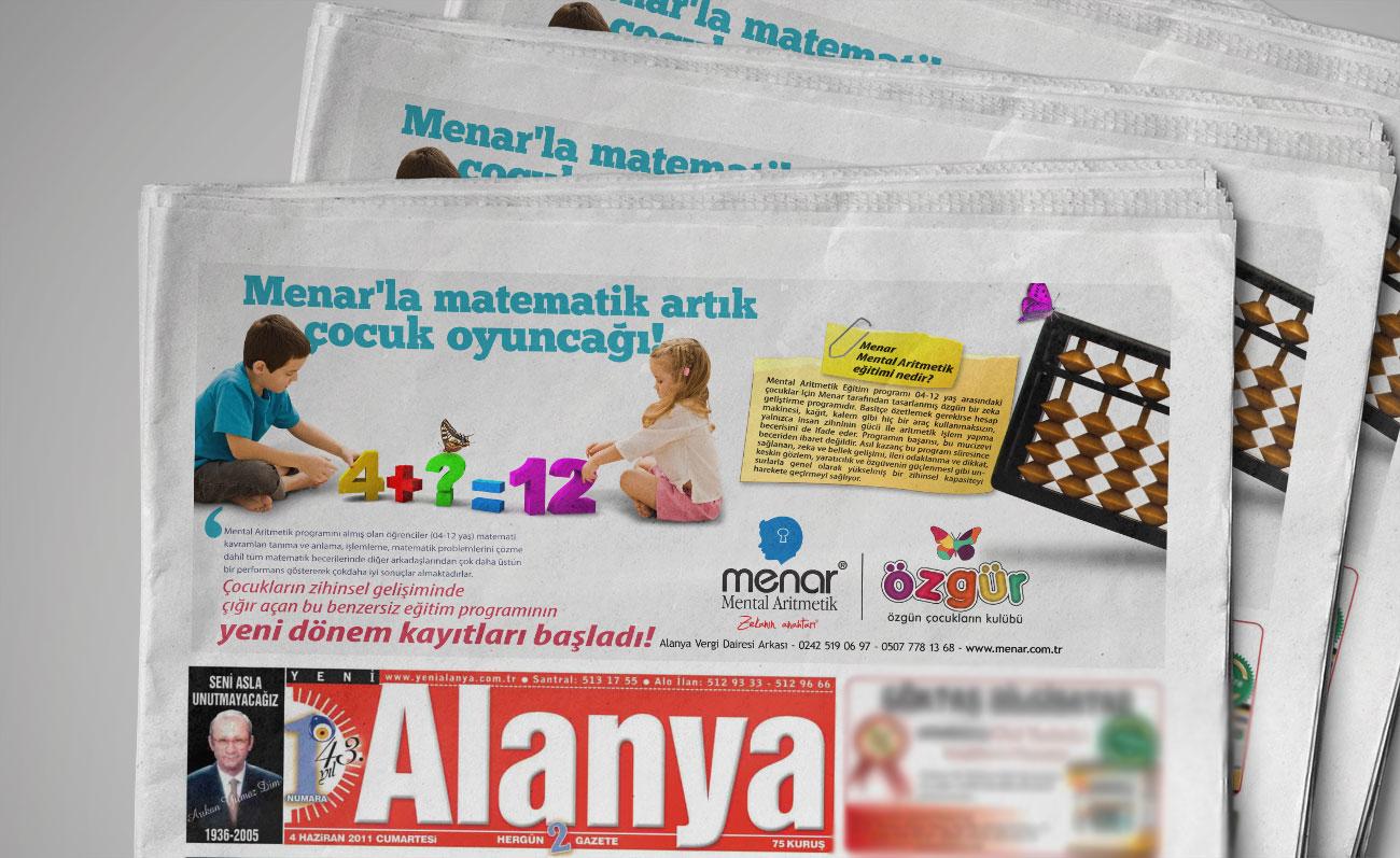 Matematik Sevgisi Gazete Reklamı - Mental Aritmetik