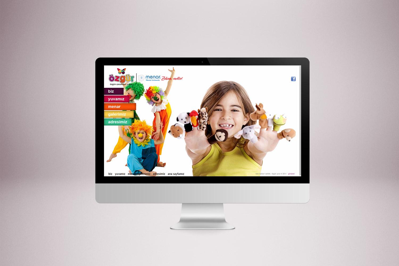 Kreş Web Sitesi Tasarımı - Özgür Çocuk Kulübü