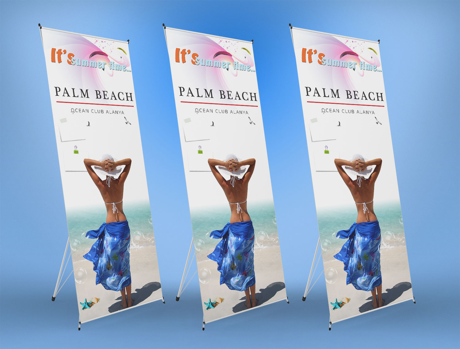 Ayaklı Stand Display Banner - Palm Beach