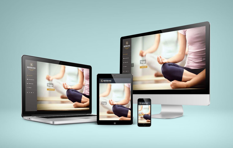 Web Sitesi Tasarımı - Referans Sağlıklı Yaşam Kulübü