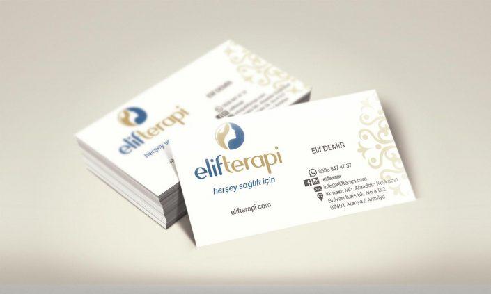 Terapist Kartvizit Tasarımı Matbaa - Elif Terapi