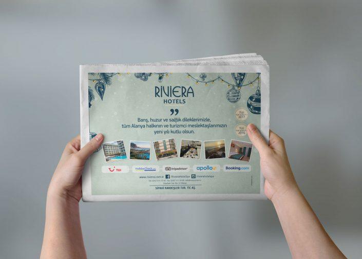 Yarım Sayfa Gazete Reklamı - Riviera Hotel Hotels Spa