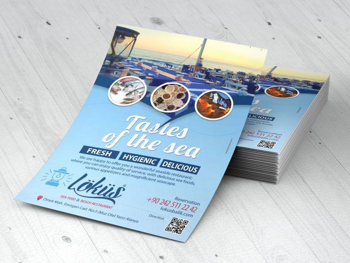 Flyer Tasarım - Löküs Balık & Sahil Restoranı