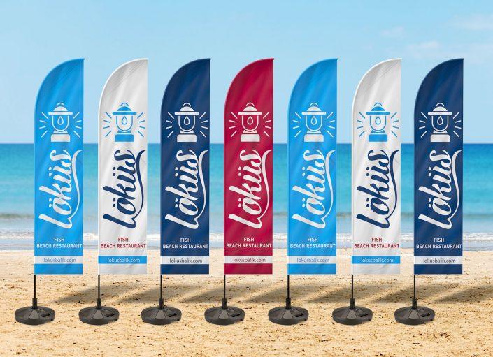 Yelken Bayrak Plaj Bayrağı - Löküs Balık & Sahil Restoranı