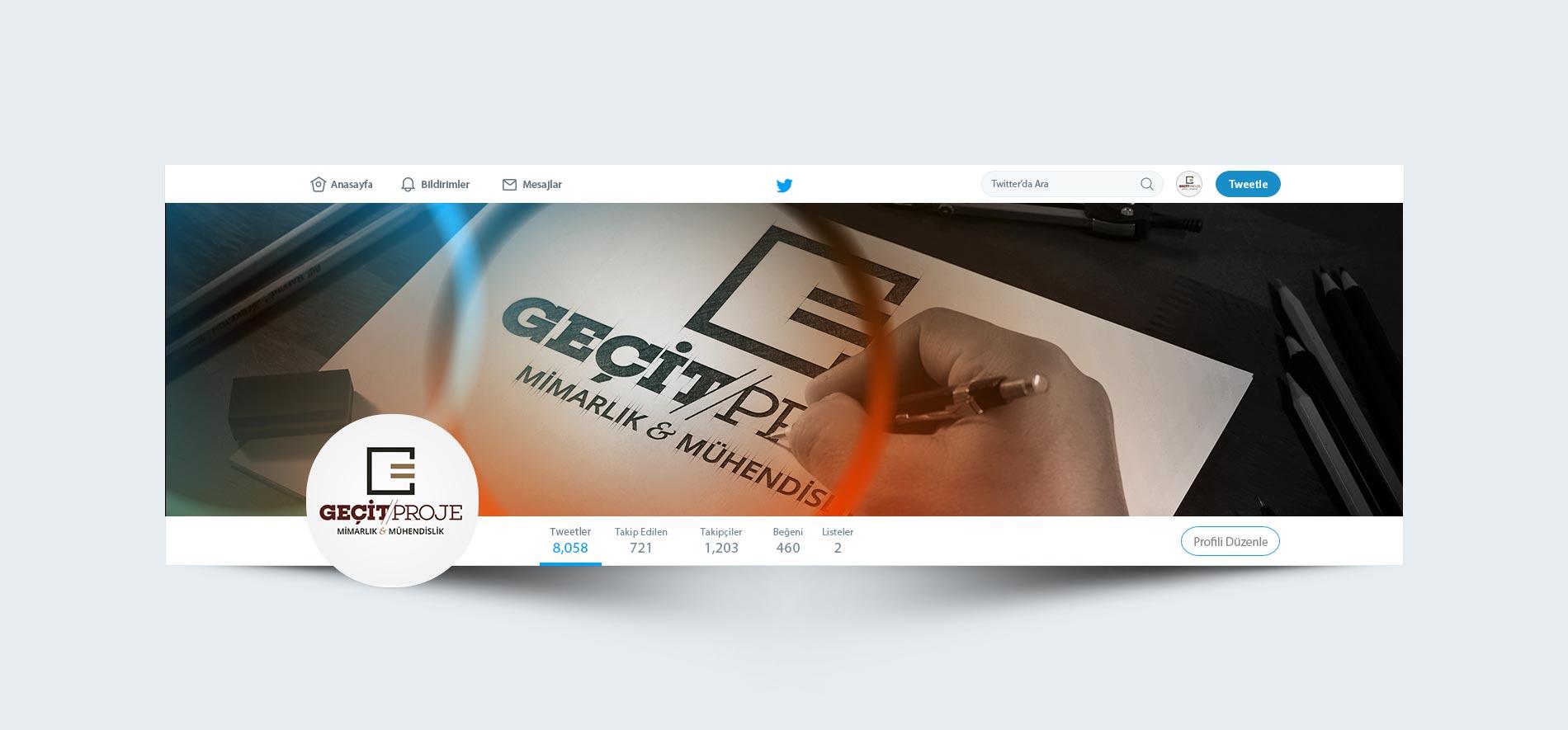 Twitter Kapağı Tasarımı | Geçit Proje