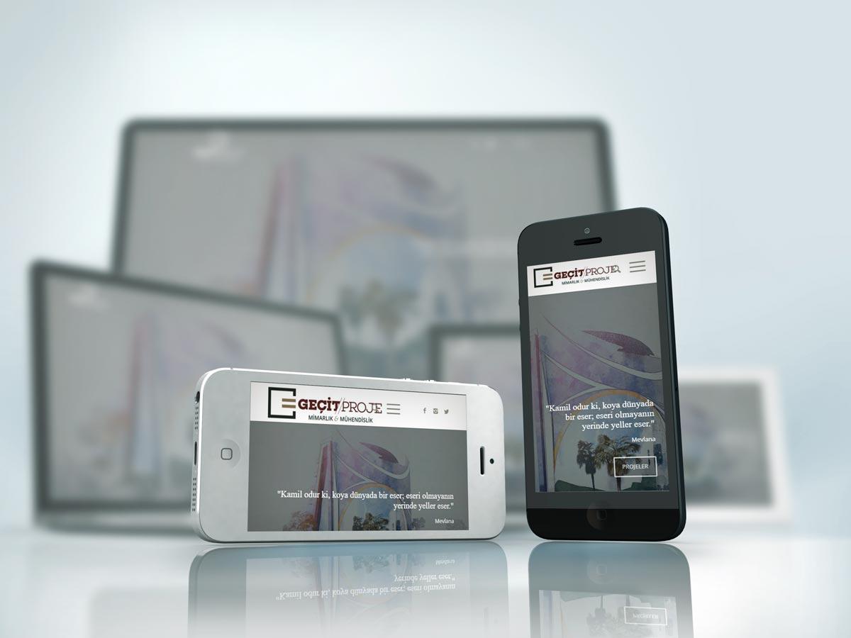 Mimarlık & Mühendislik Firma Web Sitesi Tasarımı | Geçit Proje
