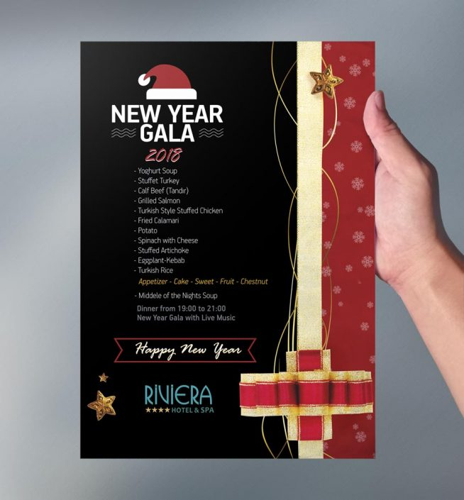 Yeni Yıl Gala Menüsü -Matbaa Baskı