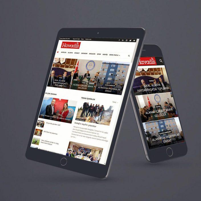 Haber Sitesi Tasarımı - havadis.web.tr