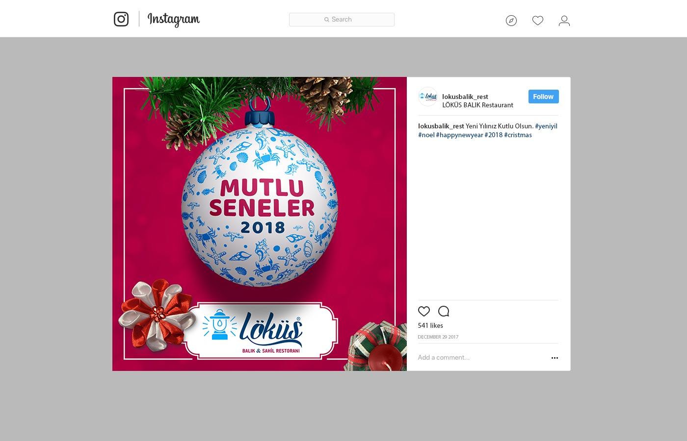 Instagram Reklamı - Löküs Balık