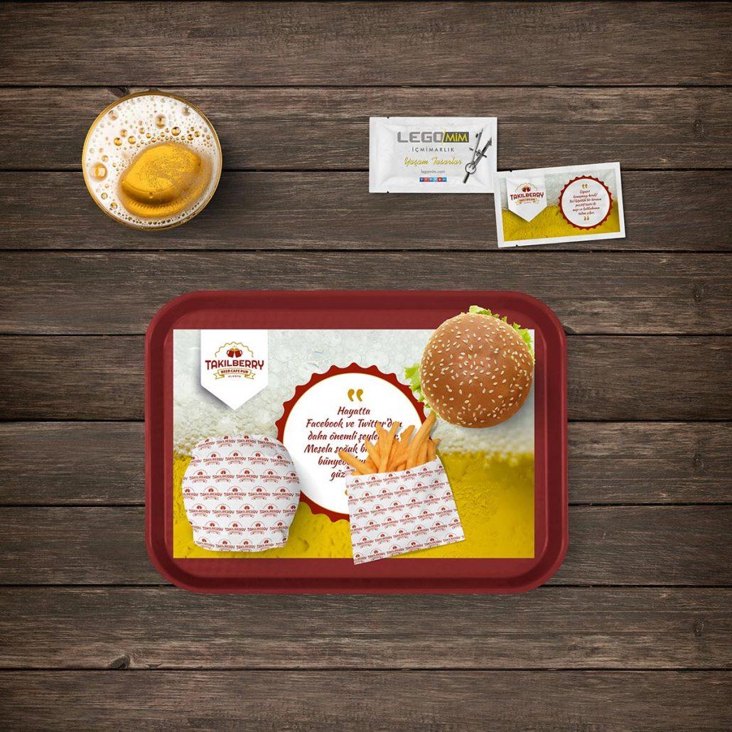 Servis Kağıtları - Takılberry Beer Cafe Bar - Matbaa Baskı