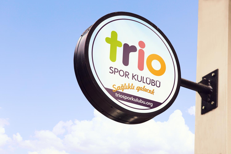 Oval Işılı Tabela - Trio Spor Kulübü